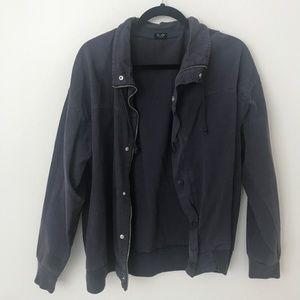 Brandy Melville faded navy utility jacket